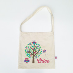 Girls' personalised library bags (various designs)