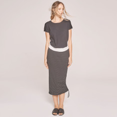 Reflect Striped Midi Skirt (various colours)