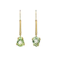 Midori green amethyst earrings