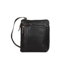 Alfieri genuine leather satchel in black