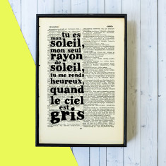 You are my sunshine French book art