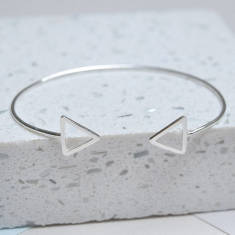 Sterling Silver Double Triangle Cuff