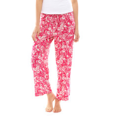 Tulip Crop Pant In Bag Pink & White