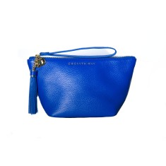 The ANI flat bottom pouch - Cobalt Blue