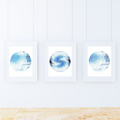 Water wheel limited edition fine art giclee prints (set of 3)