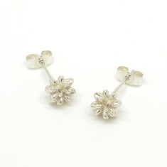Silver Pollen Stud Earrings