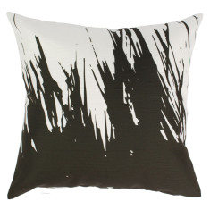 Indoor Cushion in Black & White Brush