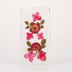 Pressed flower & leaf clear phone case for iPhone & Samsung