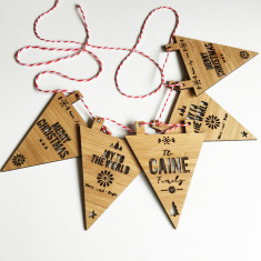 Personalised Christmas Bamboo Bunting