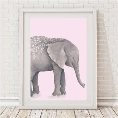Boho Tribal Elephant Print (Pink & Mauve)