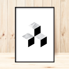 Marble squared 3 art print (various sizes)