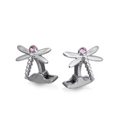 Dragonfly Swarovski Crystals Cufflinks