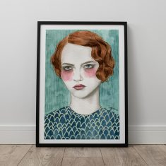 Sasha by Sofia Bonati Art Print