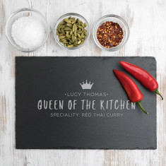 Personalised 'Queen Of The Kitchen' Serving Board