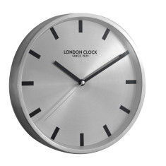 London Clock Company Sleek Silent Sweep Silver Wall clock