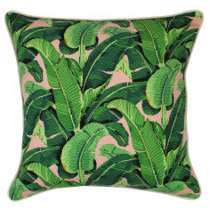 Outdoor cushion cover in banana leaf salmon (various sizes)