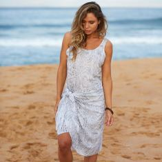 Sarong dress in trail print