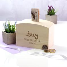 Personalised Flower Girl Money Box Gift