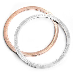 Custom engraved kadence bangle bracelet in silver or rose gold finish