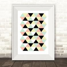 Geometric triangle pastel print