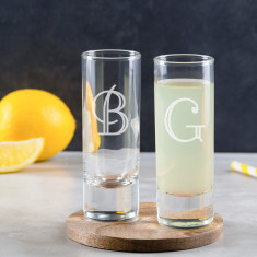 Personalised Engraved Initial Shot Glass