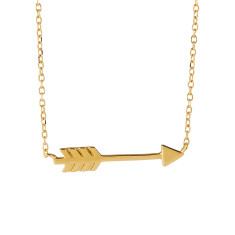 Arrow necklace in gold vermeil