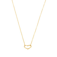 Open heart necklace in gold vermeil