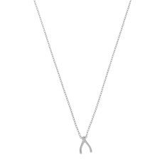 Wishbone necklace in sterling silver