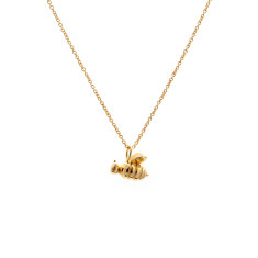 Bee necklace in gold vermeil