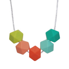 Tropical geo necklace