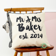 Personalised Writing Wedding Cushion