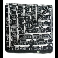 Neighbourhood merino wool throw blanket