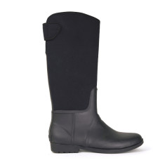 Neo wen black rubber wellies