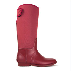 Neo wen wine rubber wellies