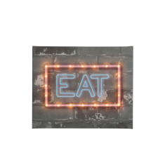 Neon-style EAT illuminated canvas