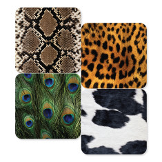 Animal print coasters (set of 4)