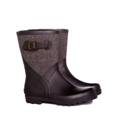Nero tweed mini rubber wellies