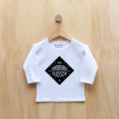 Boys' personalised little adventurer long sleeve t-shirt