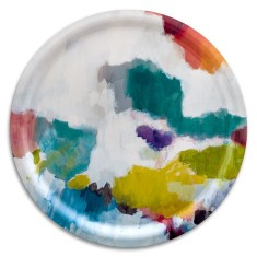 Watercolour round tray