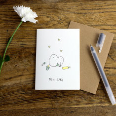 New baby greeting card (pack of 6)