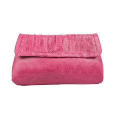 New York clutch in pomegranate