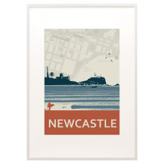 Newcastle skyline print