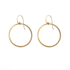 Fine Turkish Brass Hoop Earrings