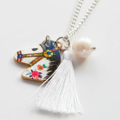 Carnival horse tassel necklace
