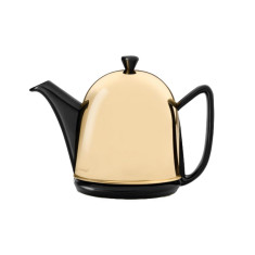 Bredemeijer Cosy Manto Ceramic Teapot With Copper Or Brass Casing