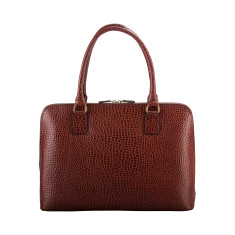 The Fiorella Croco Luxury Italian Ladies Leather Briefcase Bag