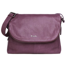 Il Tutto Ryder Leather Satchel Baby Bag in Grape