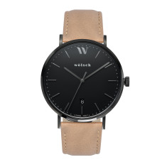 Versa 40 Watch in Black with Latté Band