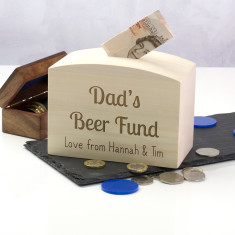 Personalised Beer Fund Money Box