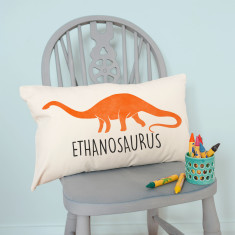 Personalised Velveteen Dinosaur Children's Cushion